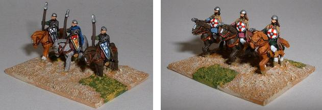 Left: Crusader/Feudal Sergeant Heavy Cavalry (TC22) Right: Turcopole Light Cavalry (TC23)