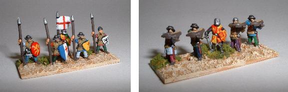 Crusader/Feudal Infantry (left TC24 TC28, right TC25 TC27)