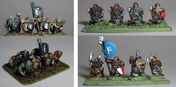 Left: Orcs (TFAN1 TFAN3 TFAN4) Right: Dwarves (TFAN7 TFAN9 TFAN10)