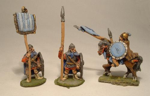 Byzantine Infantry (V29, V25) and Light Cavalry (V22)