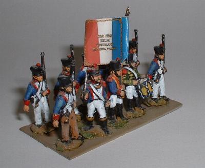 French infantry (NFI2), officer (NFI8), standard bearer (NFI7) and drummer (NFI6)