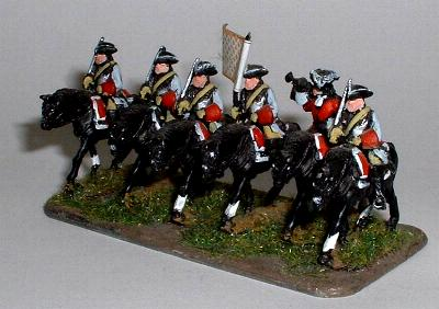 NM11 Cavalry Troopers with NM16 Standard Bearer and NM17 Cavalry Trumpeter