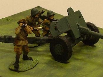 World War II Russian Gun Crew