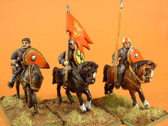 M11 Mounted General, M10b Norman standard bearer, M5 Norman heavy cavalry with lance