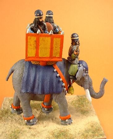 Elephant with driver and three crew (SB14)