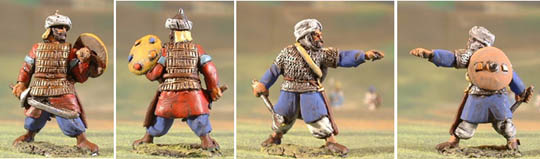 C17 Fatmid infantry officer brandishing sword or fist
