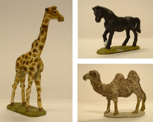 25mm Giraffe, Pony and Bactrian