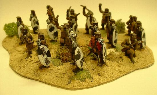 Zulu warriors (COL1 and COL2 variants)