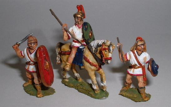 Left to right: Spanish scutari (IP65), long shield cavalry (IP57) and caetrati (IP66)