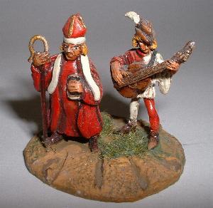 Medieval bishop (P22) and guitarist (P23)