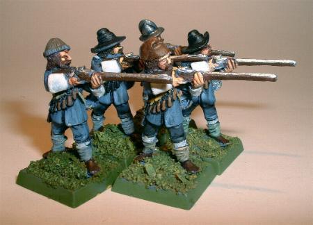 Musketeers firing (R33)