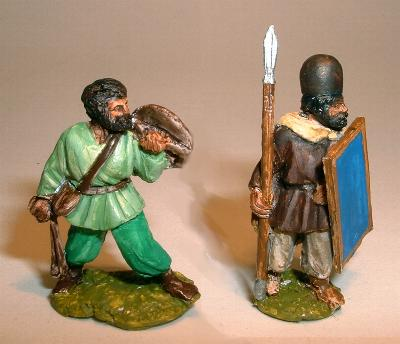 Mercenary infantry (SB10) and Levy infantry with spear