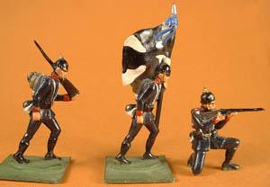 LWG 2 Infantry Marching, LWG 6 Infantry Standard Bearer, LWG 4 Infantry Kneeling Firing
