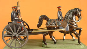 LWGP4  2-Horse Limber, Outrider + Seated Figure