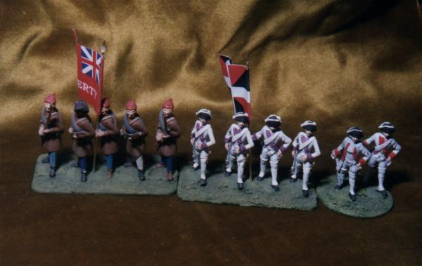 American War of Independence and Seven Years War Range Figures