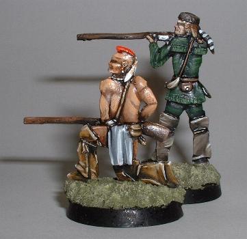 Ranger standing firing (FF6), Mohican kneeling firing (FF28)