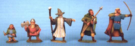 Halfling, Dwarf, Wizard and Elves