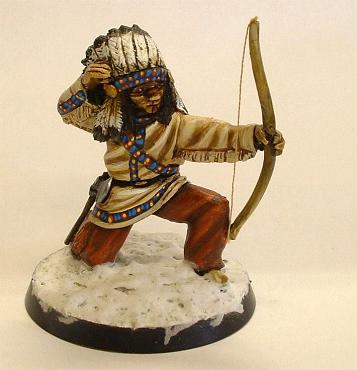 Foot Indian with bow