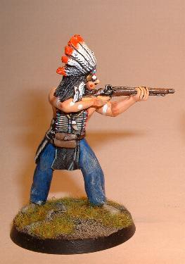 Foot Indian firing carbine