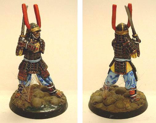 Samurai swinging sword