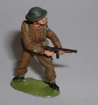British infantry advancing with Thompson SMG
