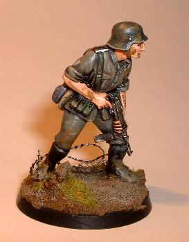Wehrmacht German Infantry Advancing with SMG