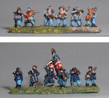 Top: ACW2 Confederate infantry Bottom: ACW3 Union infantry command