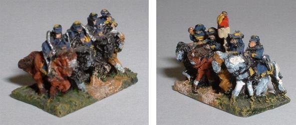 Left: ACW5 Union cavalry Right: ACW7 Cavalry command