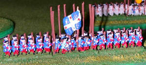 LoA Infantry figures painted as French Guard