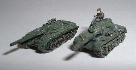 Left: MAF1 - T72 MBT, Right: MAF13 - T62 MBT