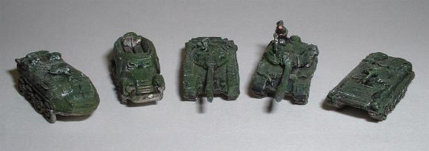 Left to right: MAF3 - BTR60, MAF2 -  BTR152 MAF1 -T72 MBT, MAF13 - T62 MBT, MAF4 - BMP