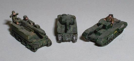 WWTA21 M40 105mm howitzer, WWTA13 Sherman and WWTB27 Churchill