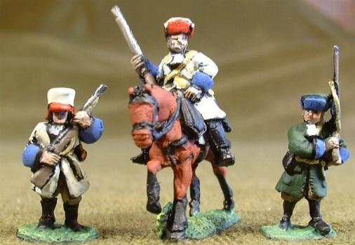 Infantry marching (GNW2), Mounted Dragoon (GNW11)
