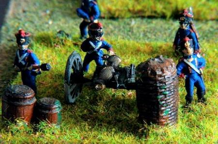 Artillerymen (FRA6, FRA8, FRA7, FRA4), 12 Pounder Canon (FRA3)