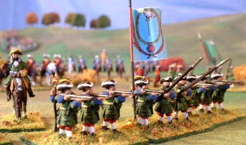 MA14 Cavalry Officer, MA3 Musketeer standing firing, MA7 Pikeman standing with pike sloped, MA3 (again).