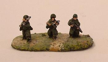 VN1 US/ARVN Infantry in helmet advancing