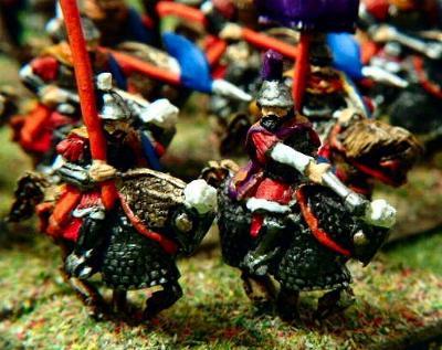 Byzantine Mounted Standard Bearer (V21) and Mounted General (V34)