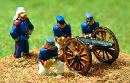 Franco-Prussian French 8 lbr Gun and crew (NC18)
