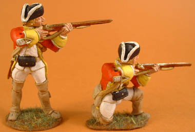 1750s British Regular Infantry firing 1750s & British Regular Infantry kneeling firing