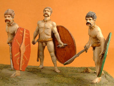 Celtic Naked Infantry advancing with sword