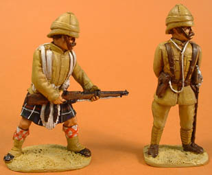 Late British Colonial Highlander attacking & Late British Colonial Officer standing