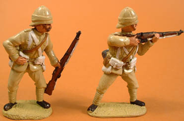 Late British Colonial Infantry loading Late British Colonial Infantry firing
