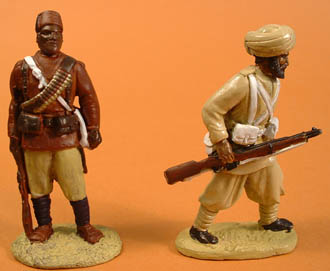 Sudanese/Egyptian Infantry standing & Sepoy advancing