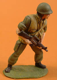 US Infantry with rifle