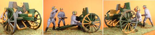 German 7.7cm Field Gun with four crew