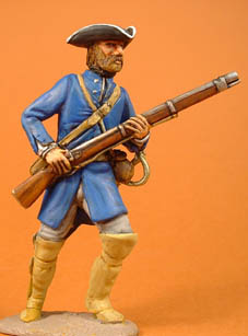 Colonial Militia/French Marine advancing