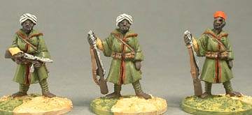NCSW118 Moorish Infantry in chibbala with SMG, NCSW117 Moorish Infantry with rifle (2 variants)