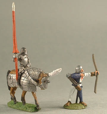 NLM9 Mounted Knight, NLM1 Wars of the Roses Longbowman firing