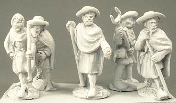 RR5 Group of 5 assorted crusades pilgrims