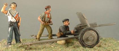 7.7cm Krupp field gun & 4 crew